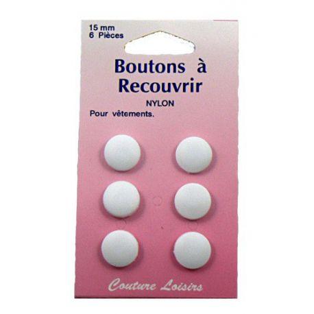 Boutons nylon n°15 à recouvrir X6
