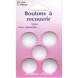 Boutons nylon n°22 à recouvrir X5