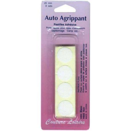 Pastilles adhésives blanches 20 mm X8