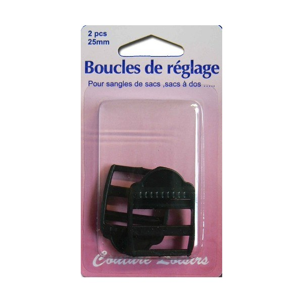 Boucles de r glage 25 mm x 2 pour sangle coupons de saint pierre - Coupon de saint pierre ...