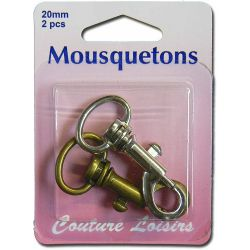 Mousquetons x 2 - 20 mm