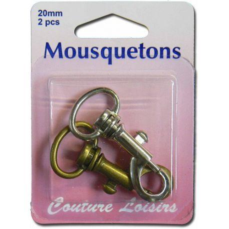 Mousquetons x 2 - 20 mm