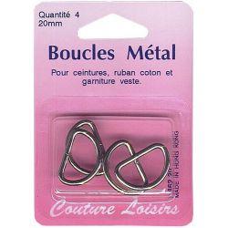 Boucles métal forme D 20 mm X4