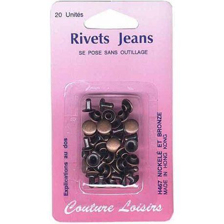 rivets jeans couleur bronze x20 coupons de saint pierre. Black Bedroom Furniture Sets. Home Design Ideas