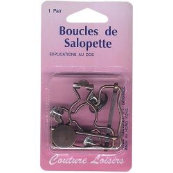 Boucles salopette bronze X2
