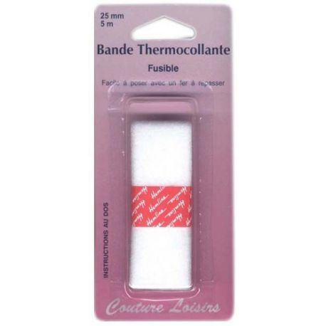 Bande thermocollante pour ourlets 25mm long 5m