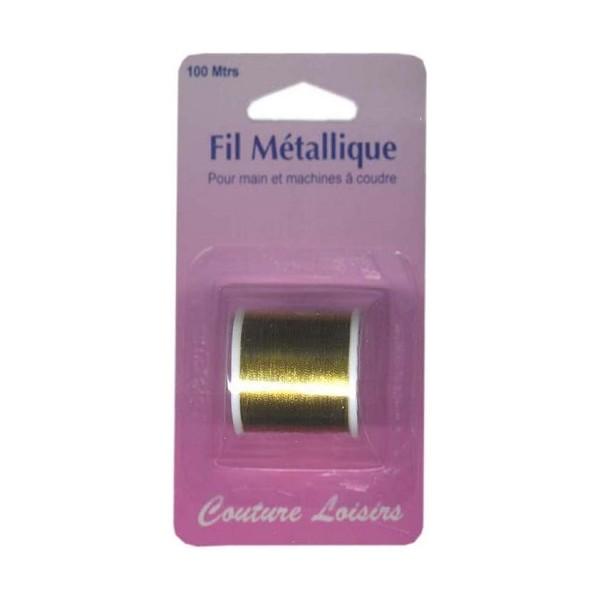 Bobine de fil métallique or -100m (main/machine)