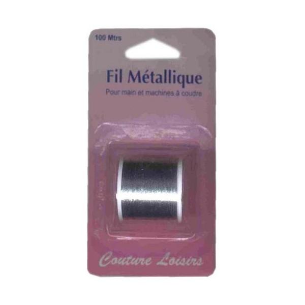 Bobine de fil métallique argent 100m (main/machine)