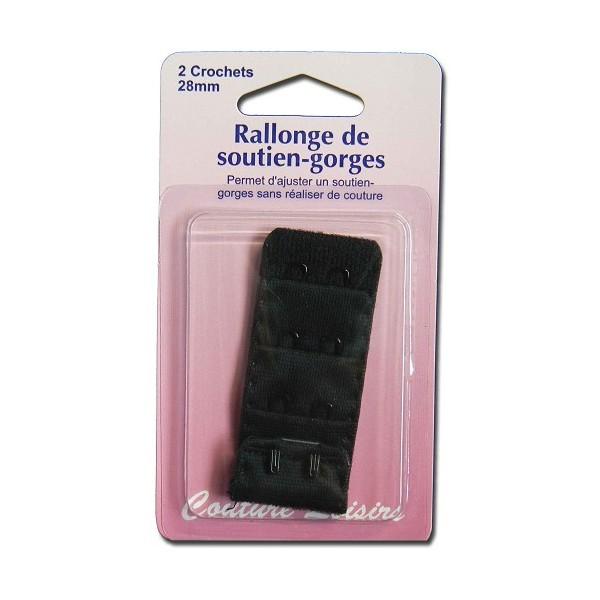 Rallonge de soutiens-gorge - 28 mm - noir