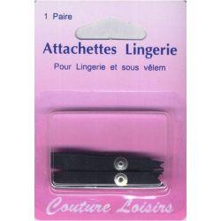 Attachettes lingerie noires