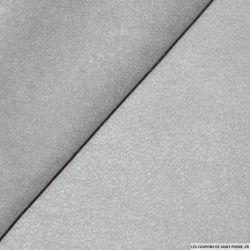 Suédine aspect cuir gris perle