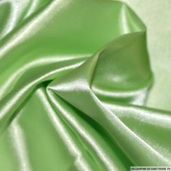 Satin Polyester uni Vert pomme