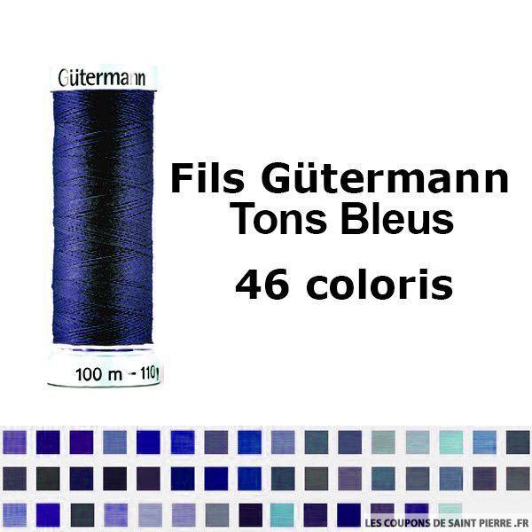 Fil pour tout coudre 100m - Tons Bleu - Gütermann