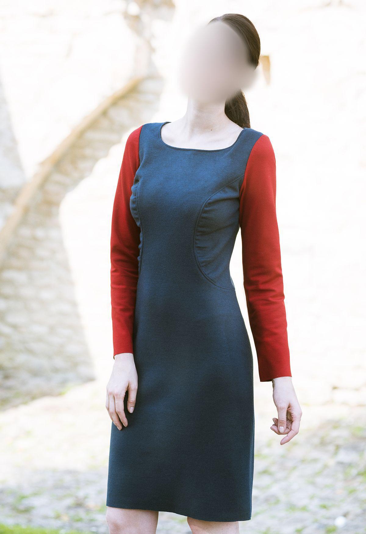 Patron robe droite avec manche