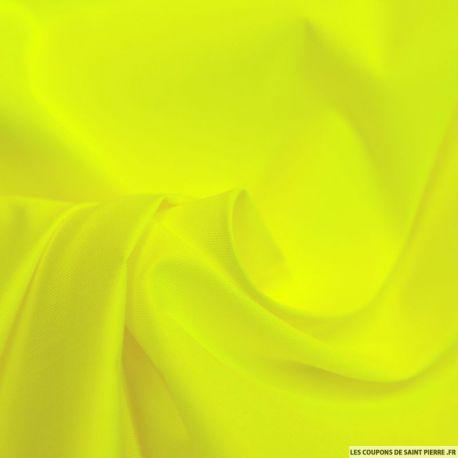 Tissu Chintz Polyester Coton Jaune fluo