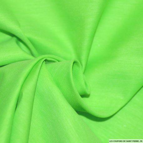 Tissu Chintz Polyester Coton Vert fluo