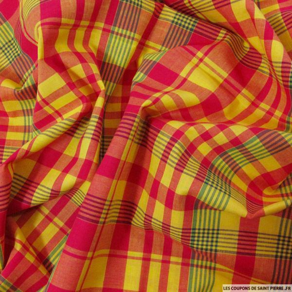 Tissu Coton Madras Carreaux n°19