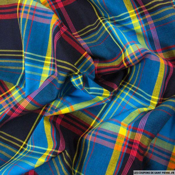 Tissu Coton Madras Carreaux n°7