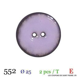 Tube 2 boutons mauve Ø 25mm