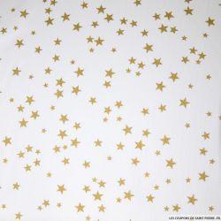 Tissus Piqué de coton imprimé étoiles dorées