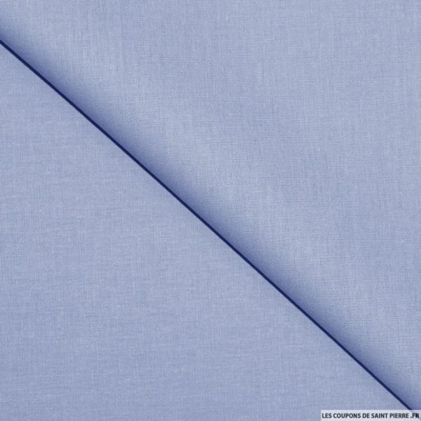 Tissu Coton uni bleu