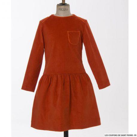 Patron Modes & Travaux - Fillette et Poupée : Robe mandarine