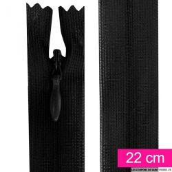 Fermeture invisible de 22 cm noir