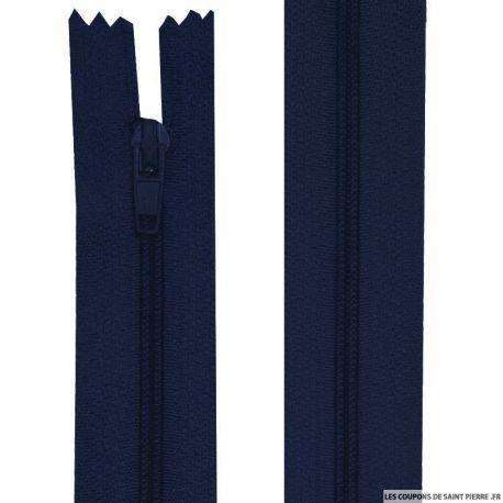 Fermeture nylon non-séparable de 25 à 40 cm gris, bleu nuit et noir