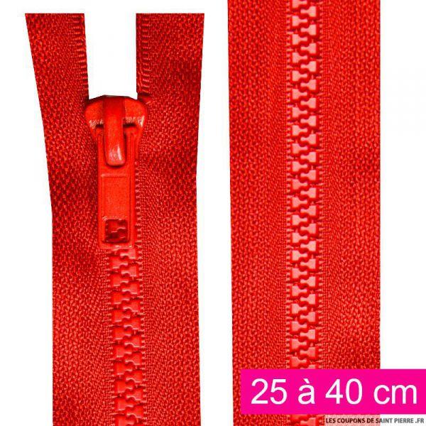 Fermeture injectée n°5 séparable de 25 à 40 cm rouge