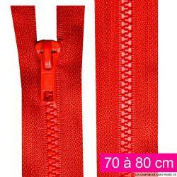 Fermeture injectée n°5 séparable de 70 à 80 cm rouge