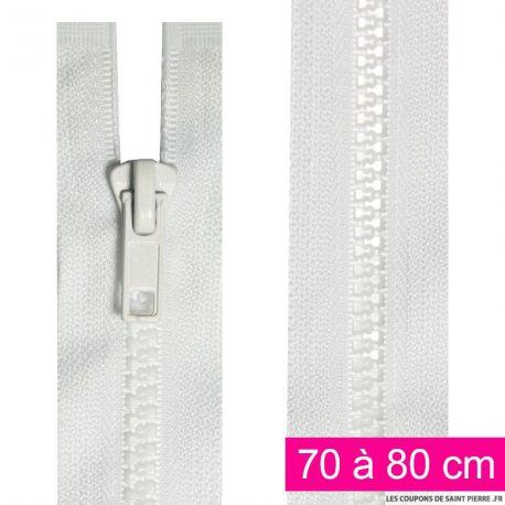 Fermeture injectée n°5 séparable de 70 à 80 cm blanc
