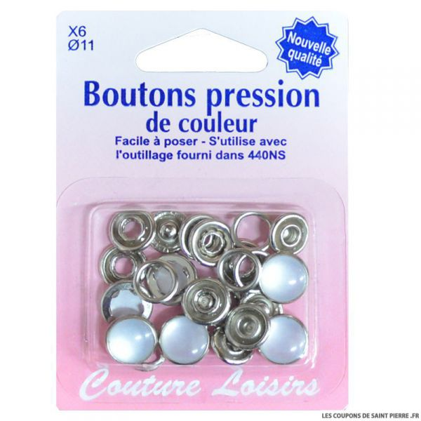 tailles assorties Couture Boutons pression