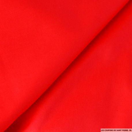 Tissu Satin de Coton rouge