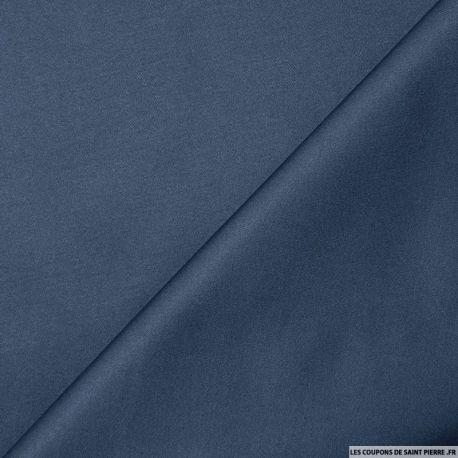 Tissu Satin de Coton marine