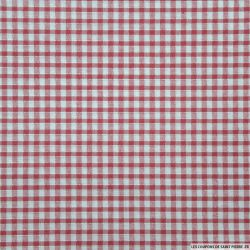 Coton Vichy 3mm Bordeaux