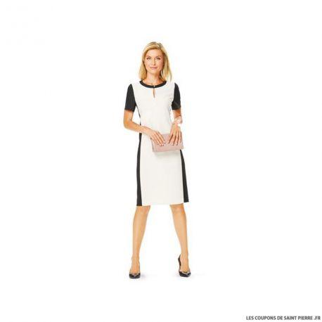 Patron N°6637 Burda : Veste col châle