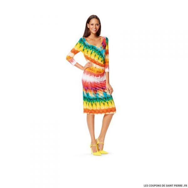 Patron N°6641 Burda : Robe plis latéraux