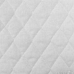 Piqué de coton matelassé blanc au mètre