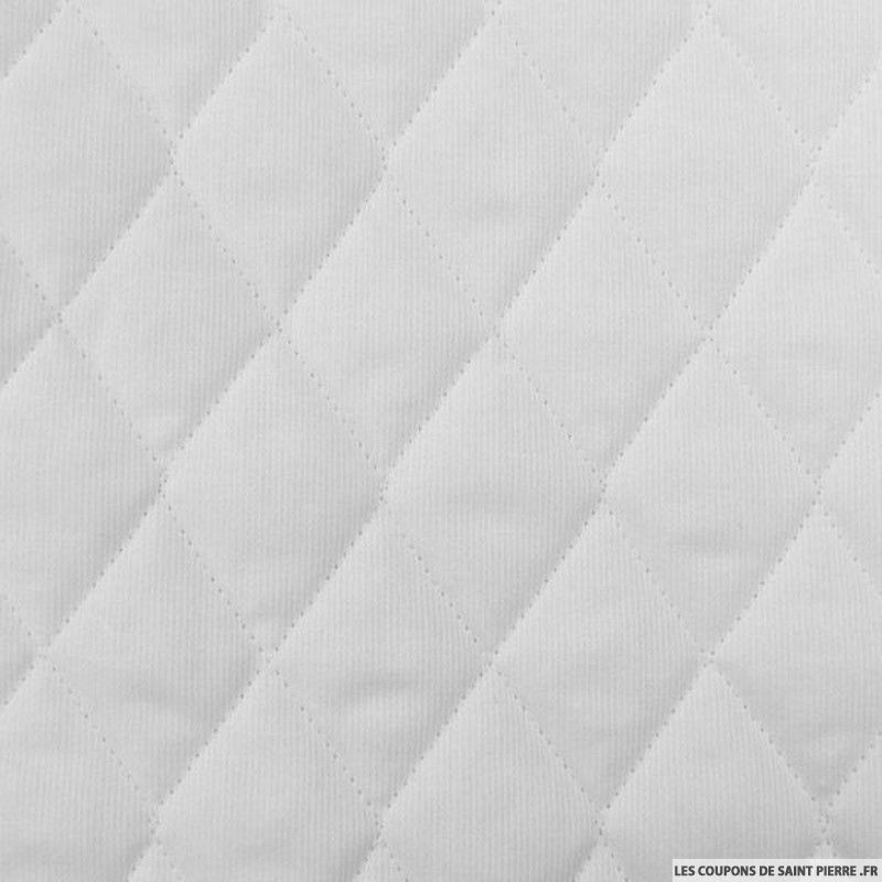 tissu piqu de coton matelass de couleur unie au m tre. Black Bedroom Furniture Sets. Home Design Ideas