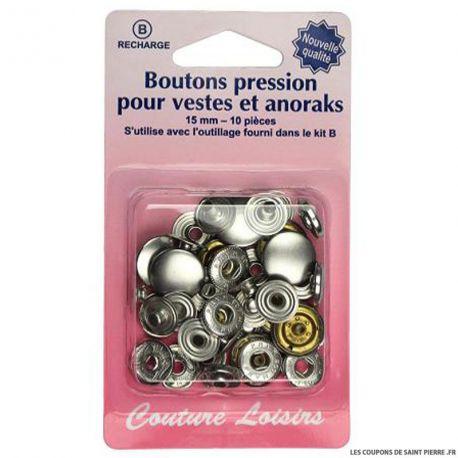Recharge boutons pression Veste et anoraks- Argent