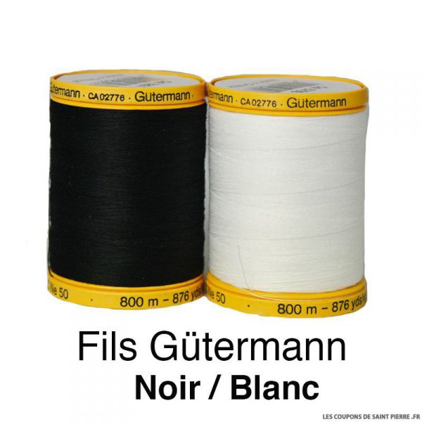 Fil de coton naturel 800m - Gütermann