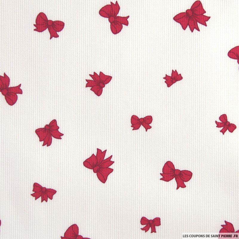 tissu en piqu de coton imprim noeuds couleur framboise. Black Bedroom Furniture Sets. Home Design Ideas