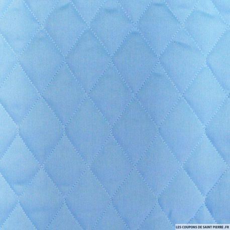 Tissu Piqué de coton matelassé de couleur ciel unie au mètre