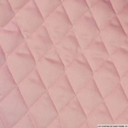 Piqué de coton matelassé rose au mètre