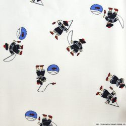 Tissus Piqué de coton imprimé petits marins