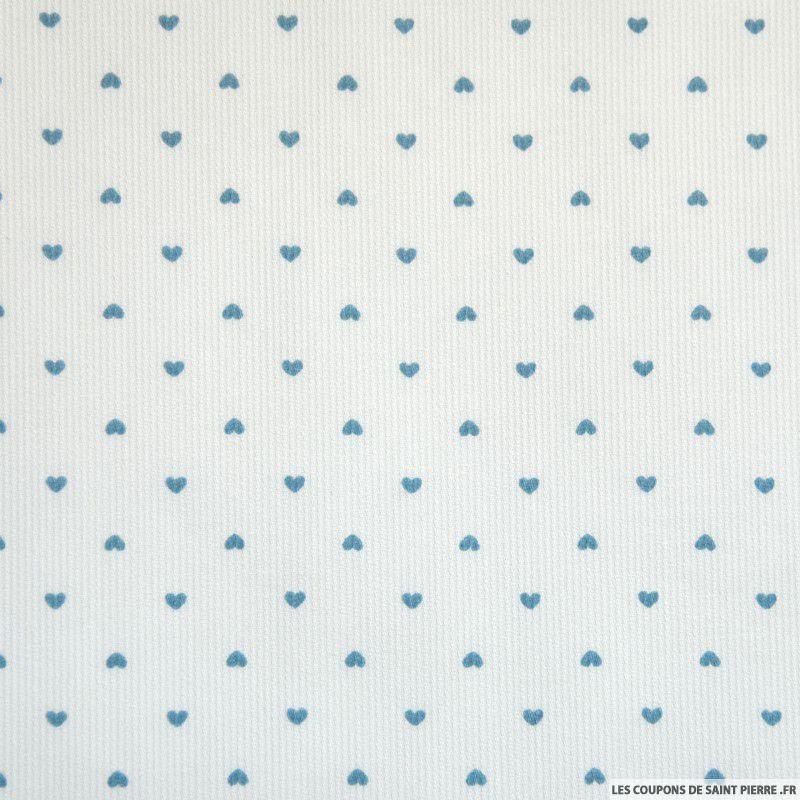 le coupon de 3 metres imprim petit coeur ciel coupons de saint pierre. Black Bedroom Furniture Sets. Home Design Ideas