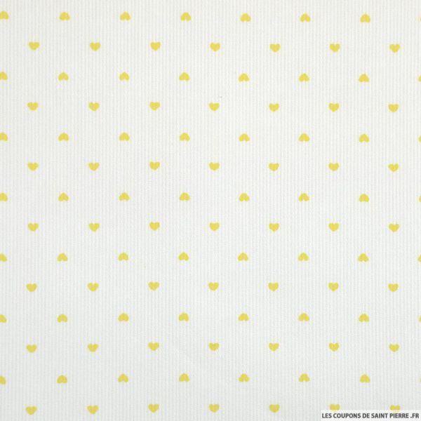 LE COUPON DE 3 METRES imprimé petit coeur jaune