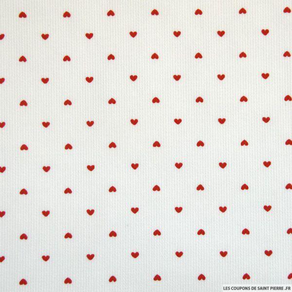 LE COUPON DE 3 METRES imprimé petit coeur rouge
