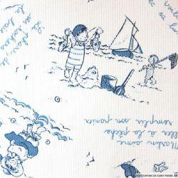 Tissus Piqué de coton imprimé Saint Malo