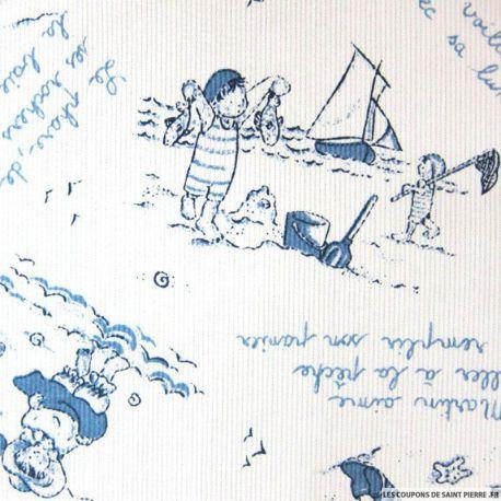 Tissu Piqué de coton imprimé Saint Malo